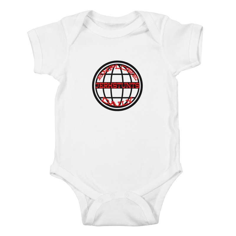 EXPLORE DAILY TECHGLOBE JERKSTUNTS Kids Baby Bodysuit by ExploreDaily's Artist Shop