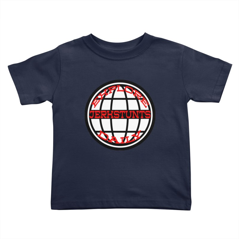 EXPLORE DAILY TECHGLOBE JERKSTUNTS Kids Toddler T-Shirt by ExploreDaily's Artist Shop