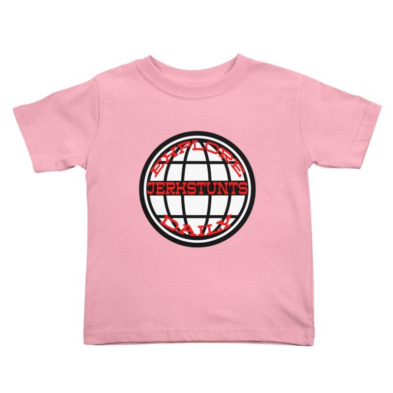 EXPLORE DAILY TECHGLOBE JERKSTUNTS Kids Toddler T-Shirt by ExploreDaily's Artist Shop