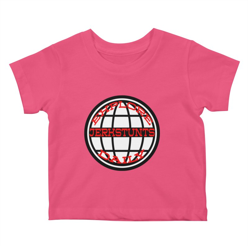 EXPLORE DAILY TECHGLOBE JERKSTUNTS Kids Baby T-Shirt by ExploreDaily's Artist Shop