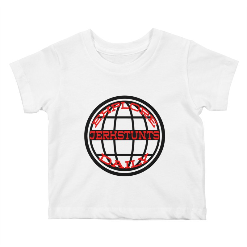 EXPLORE DAILY TECHGLOBE JERKSTUNTS Kids Baby T-Shirt by ExploreDaily's Artist Shop