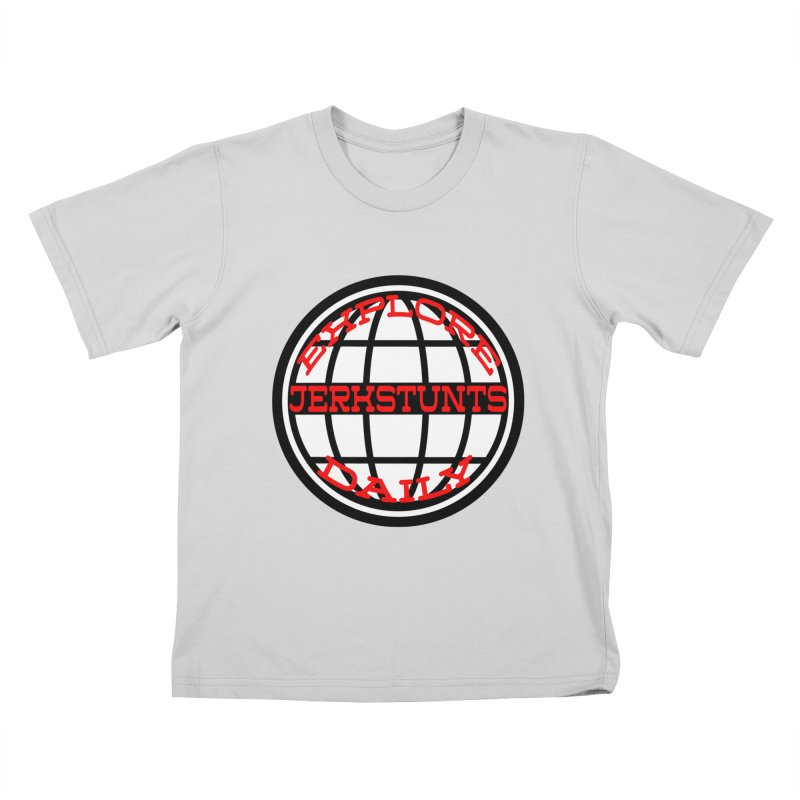 EXPLORE DAILY TECHGLOBE JERKSTUNTS Kids T-Shirt by ExploreDaily's Artist Shop