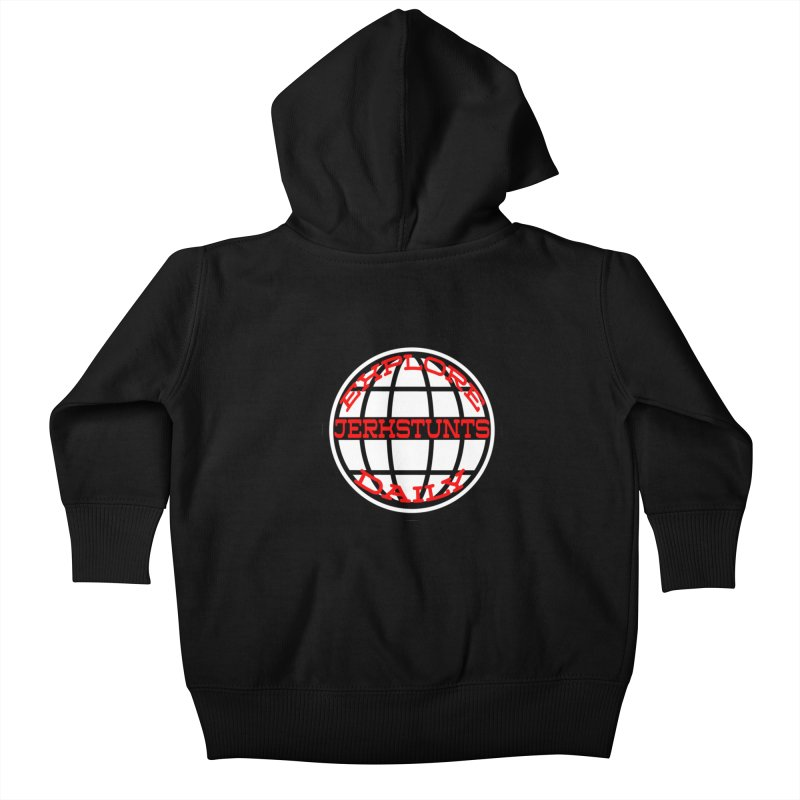 EXPLORE DAILY TECHGLOBE JERKSTUNTS Kids Baby Zip-Up Hoody by ExploreDaily's Artist Shop