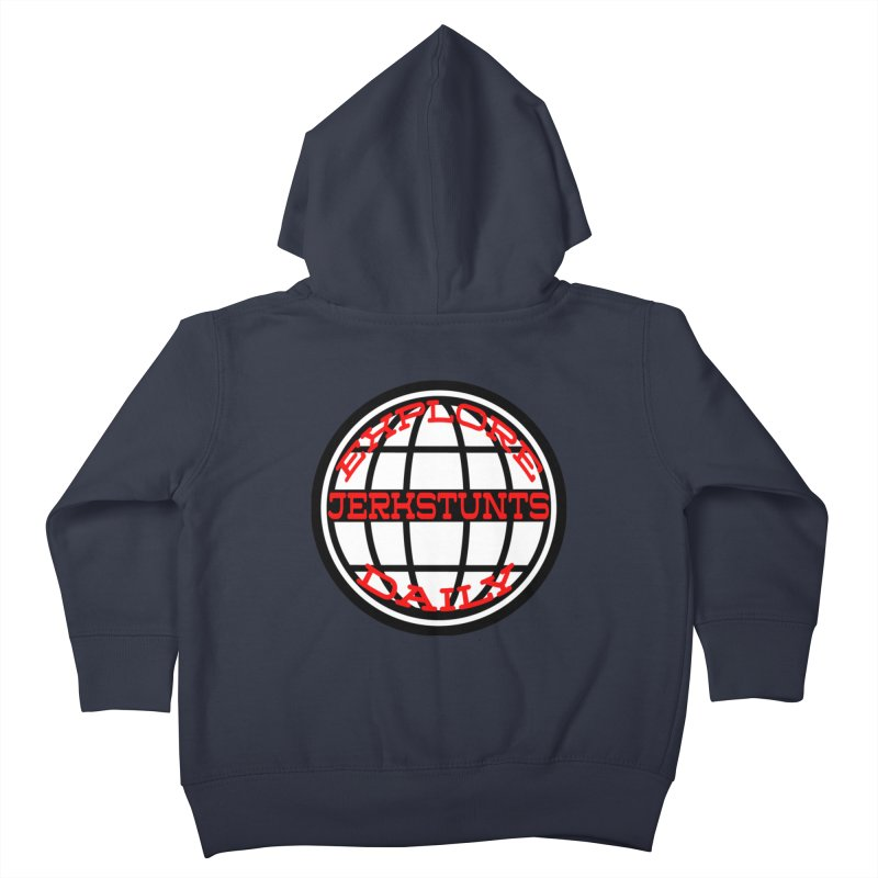 EXPLORE DAILY TECHGLOBE JERKSTUNTS Kids Toddler Zip-Up Hoody by ExploreDaily's Artist Shop