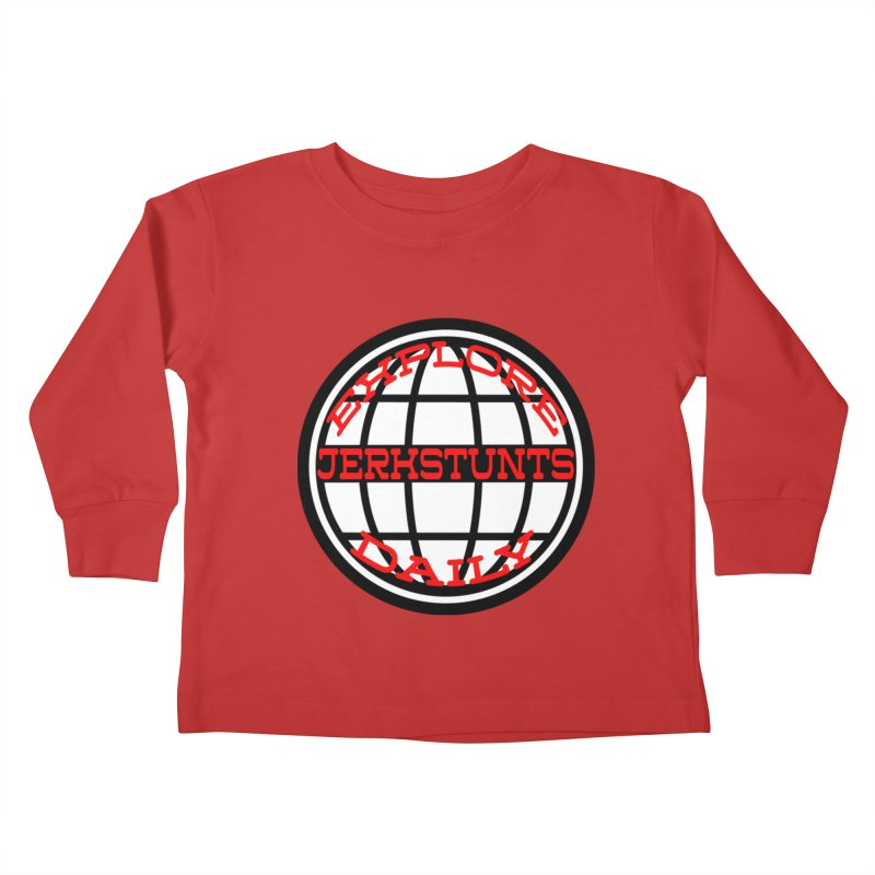 EXPLORE DAILY TECHGLOBE JERKSTUNTS Kids Toddler Longsleeve T-Shirt by ExploreDaily's Artist Shop