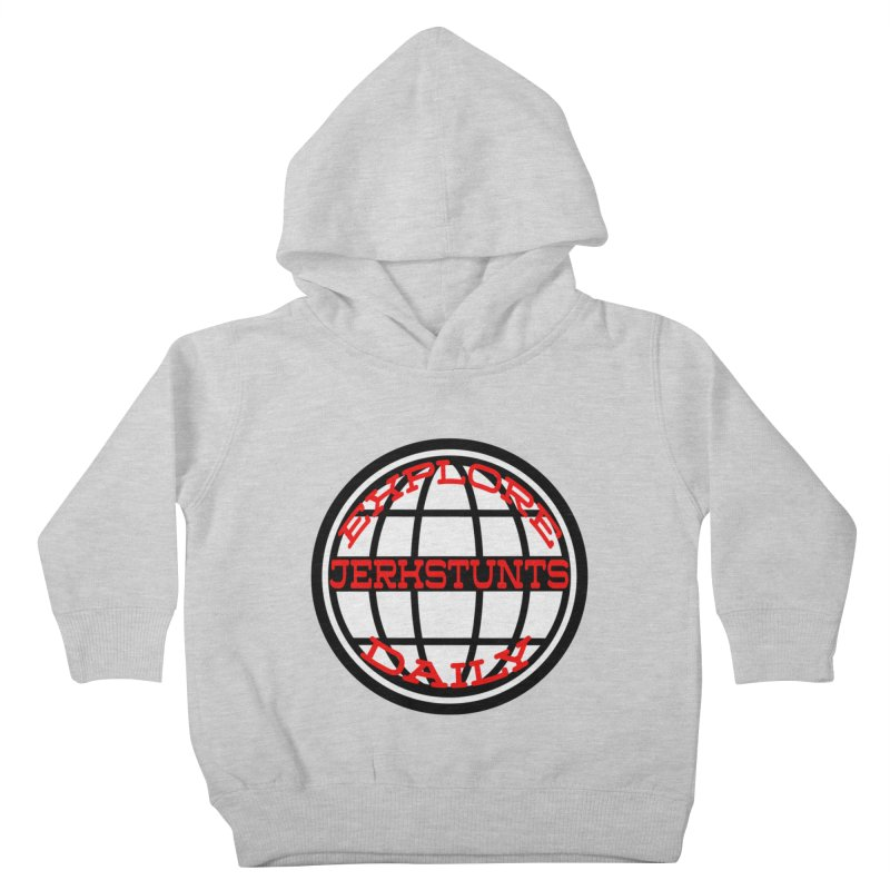EXPLORE DAILY TECHGLOBE JERKSTUNTS Kids Toddler Pullover Hoody by ExploreDaily's Artist Shop