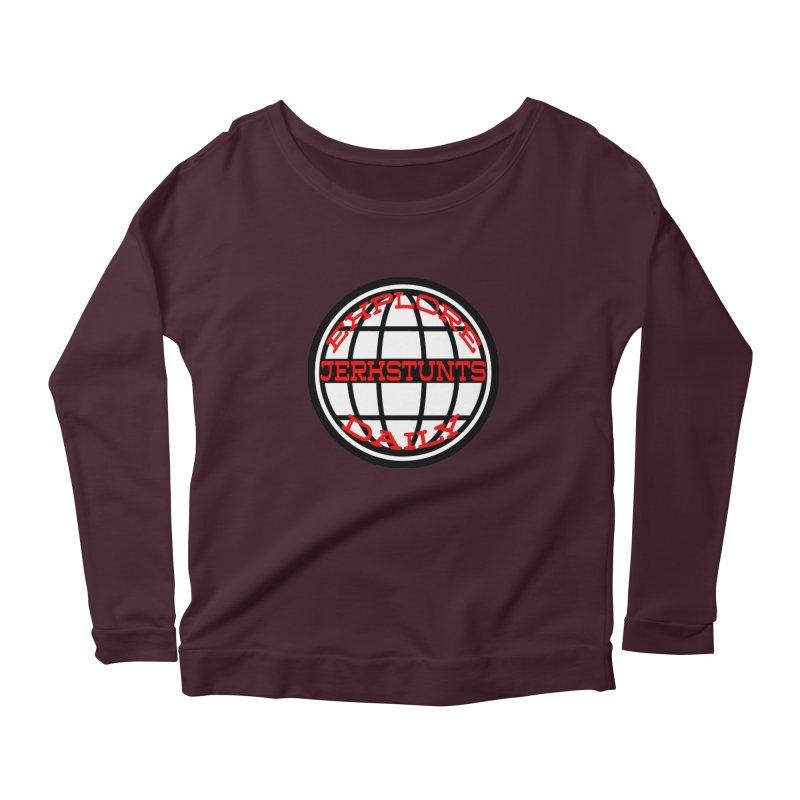 EXPLORE DAILY TECHGLOBE JERKSTUNTS Women's Longsleeve T-Shirt by ExploreDaily's Artist Shop