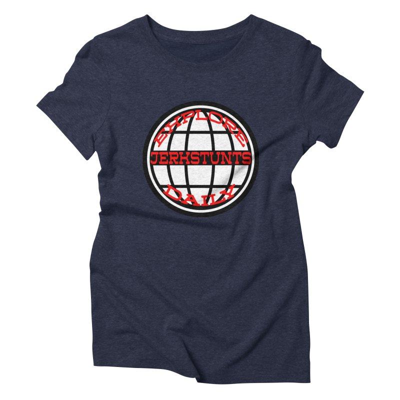 EXPLORE DAILY TECHGLOBE JERKSTUNTS Women's Triblend T-Shirt by ExploreDaily's Artist Shop