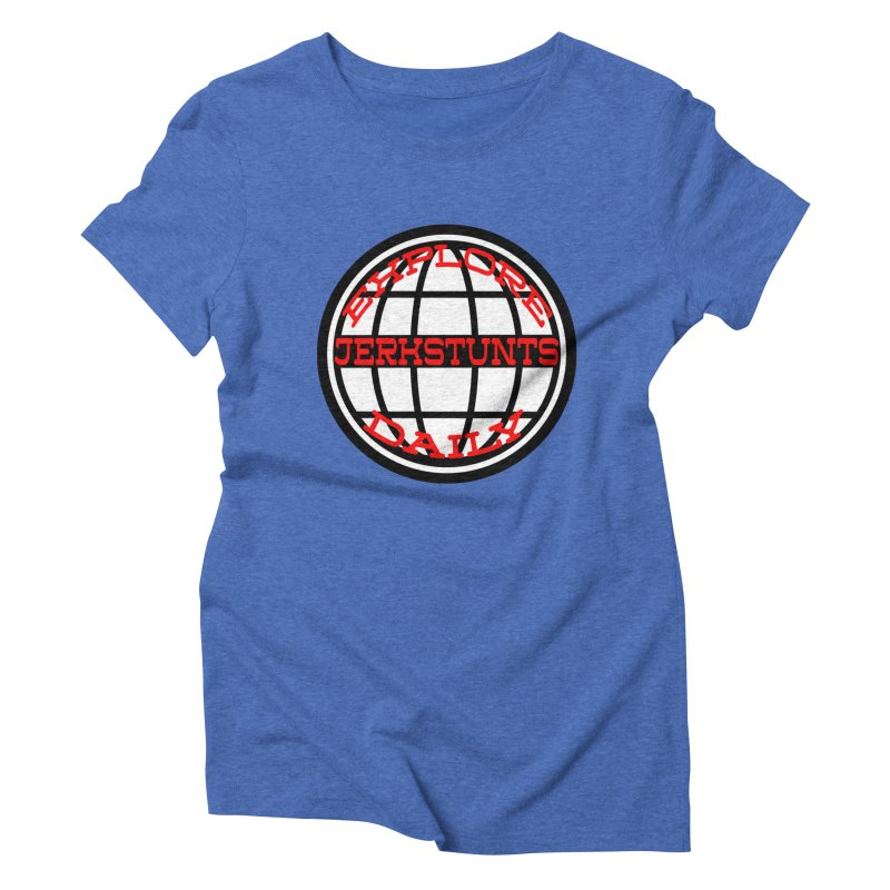 EXPLORE DAILY TECHGLOBE JERKSTUNTS Women's Triblend T-Shirt by ExploreDaily's Artist Shop