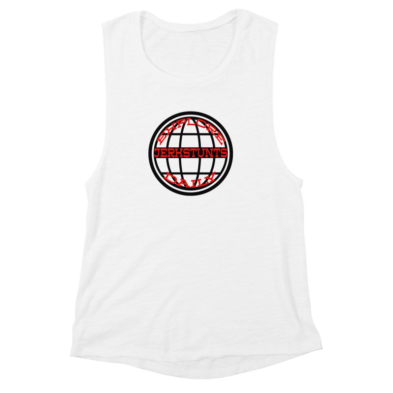 EXPLORE DAILY TECHGLOBE JERKSTUNTS Women's Muscle Tank by ExploreDaily's Artist Shop