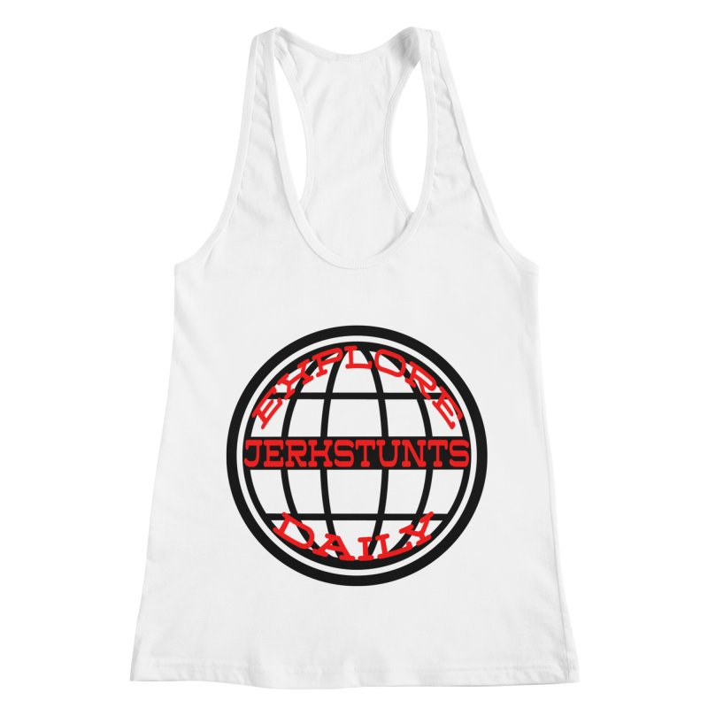 EXPLORE DAILY TECHGLOBE JERKSTUNTS Women's Racerback Tank by ExploreDaily's Artist Shop
