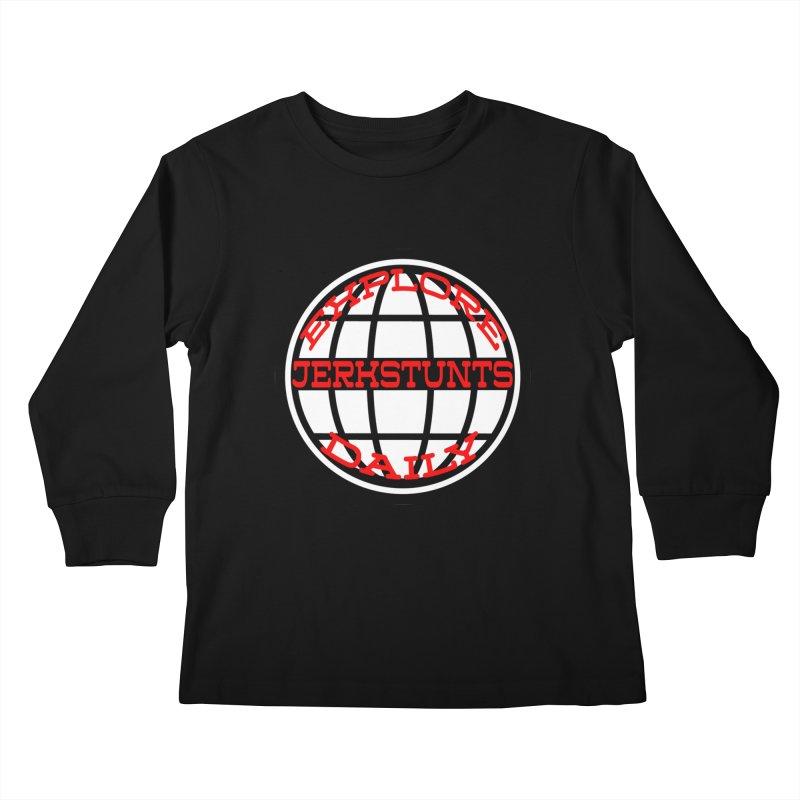 EXPLORE DAILY TECHGLOBE JERKSTUNTS Kids Longsleeve T-Shirt by ExploreDaily's Artist Shop