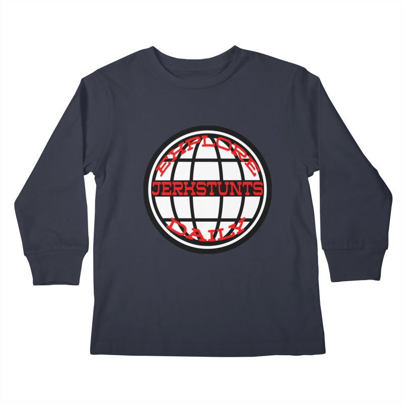 EXPLORE DAILY TECHGLOBE JERKSTUNTS Kids Longsleeve T-Shirt by ExploreDaily's Artist Shop