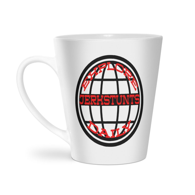 EXPLORE DAILY TECHGLOBE JERKSTUNTS Accessories Latte Mug by ExploreDaily's Artist Shop