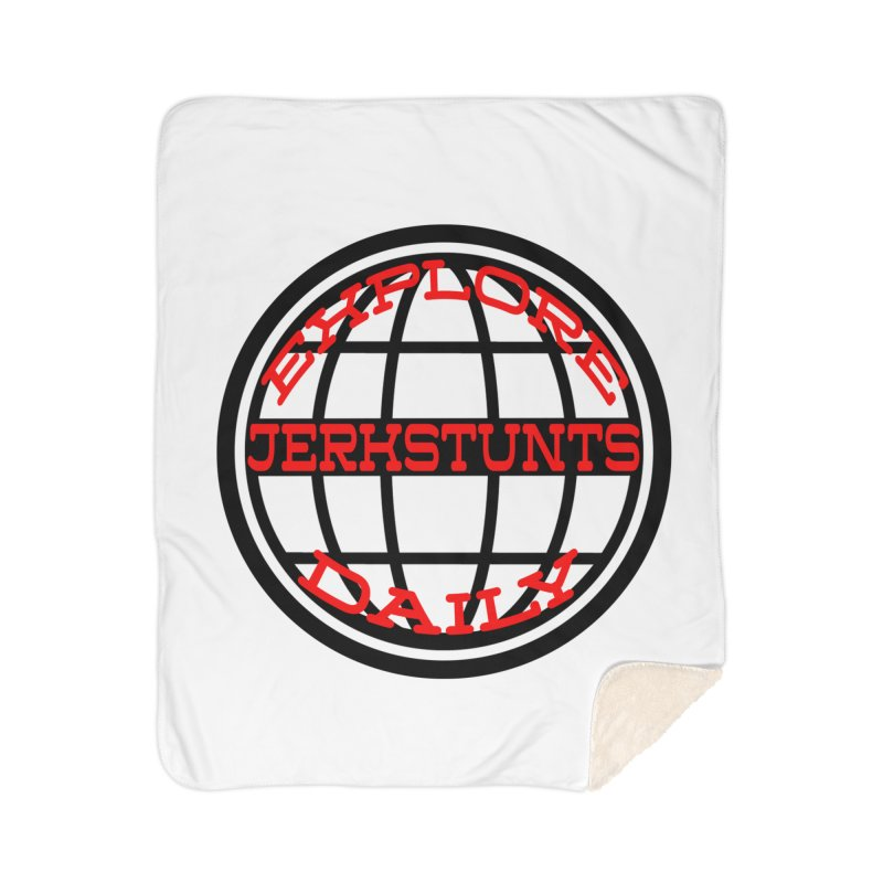 EXPLORE DAILY TECHGLOBE JERKSTUNTS Home Sherpa Blanket Blanket by ExploreDaily's Artist Shop