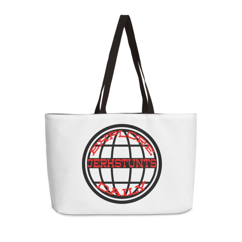 EXPLORE DAILY TECHGLOBE JERKSTUNTS Accessories Weekender Bag Bag by ExploreDaily's Artist Shop