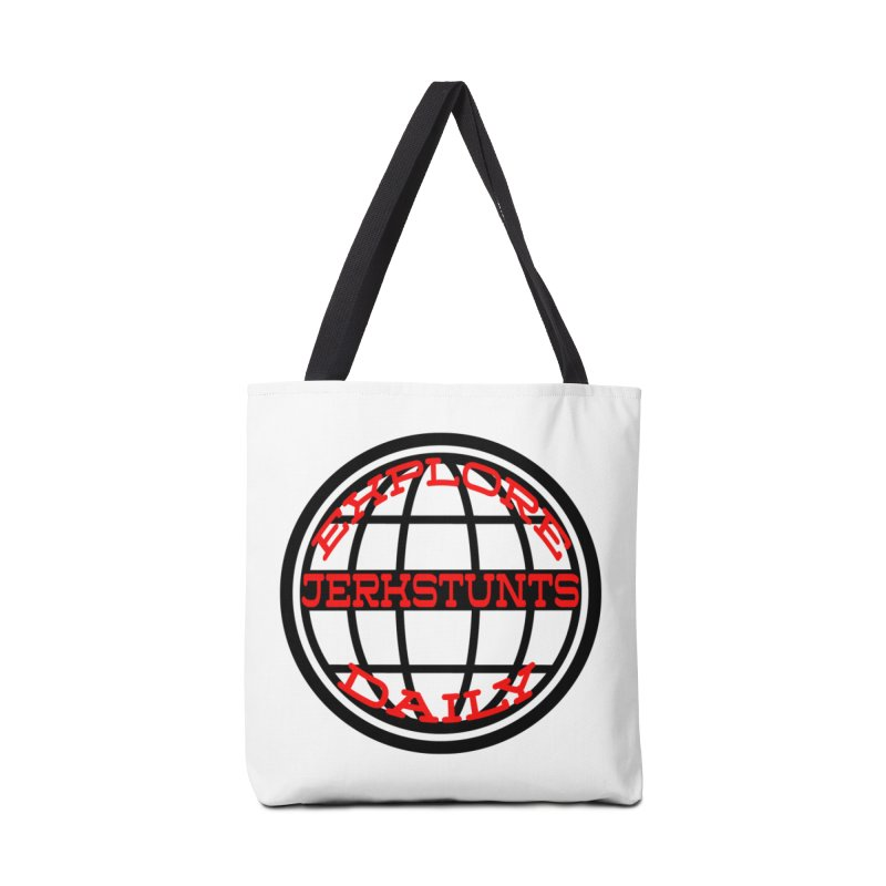 EXPLORE DAILY TECHGLOBE JERKSTUNTS Accessories Bag by ExploreDaily's Artist Shop