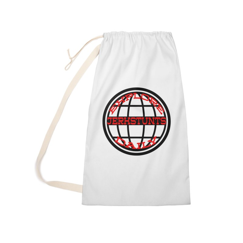EXPLORE DAILY TECHGLOBE JERKSTUNTS Accessories Laundry Bag Bag by ExploreDaily's Artist Shop