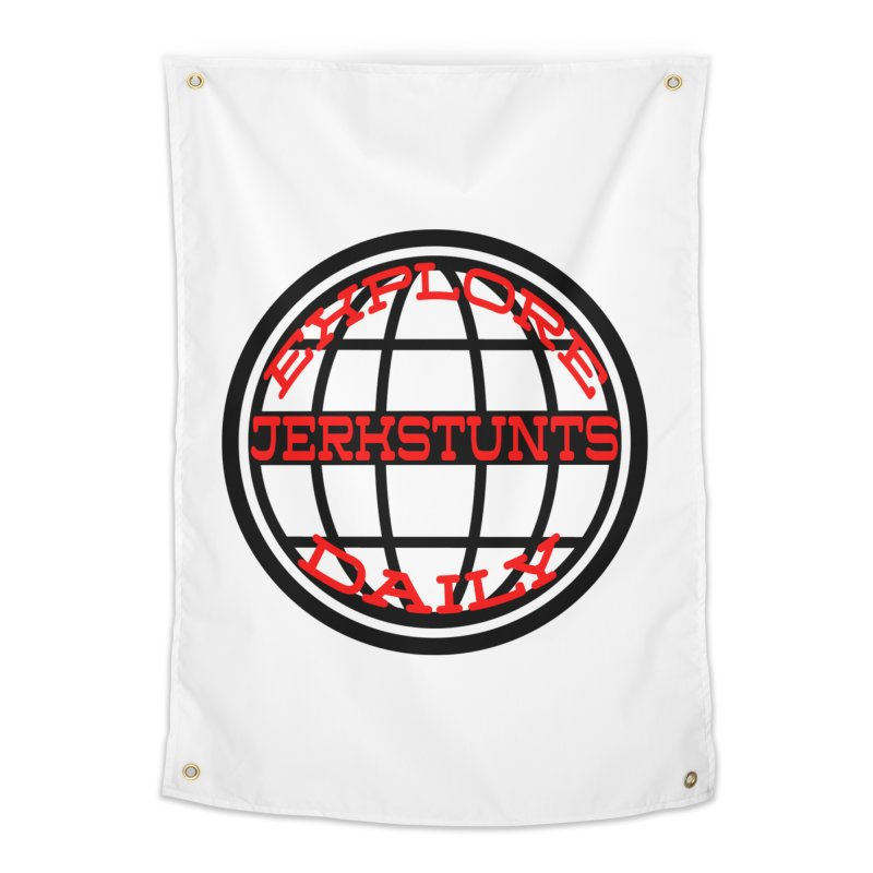 EXPLORE DAILY TECHGLOBE JERKSTUNTS Home Tapestry by ExploreDaily's Artist Shop