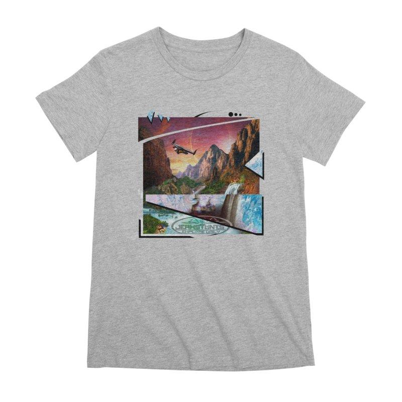 JERKSTUNTS WINGSUIT CYBERTECH HARD REMIX Women's Premium T-Shirt by ExploreDaily's Artist Shop