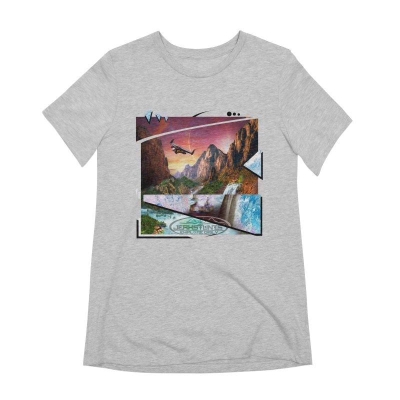 JERKSTUNTS WINGSUIT CYBERTECH HARD REMIX Women's Extra Soft T-Shirt by ExploreDaily's Artist Shop