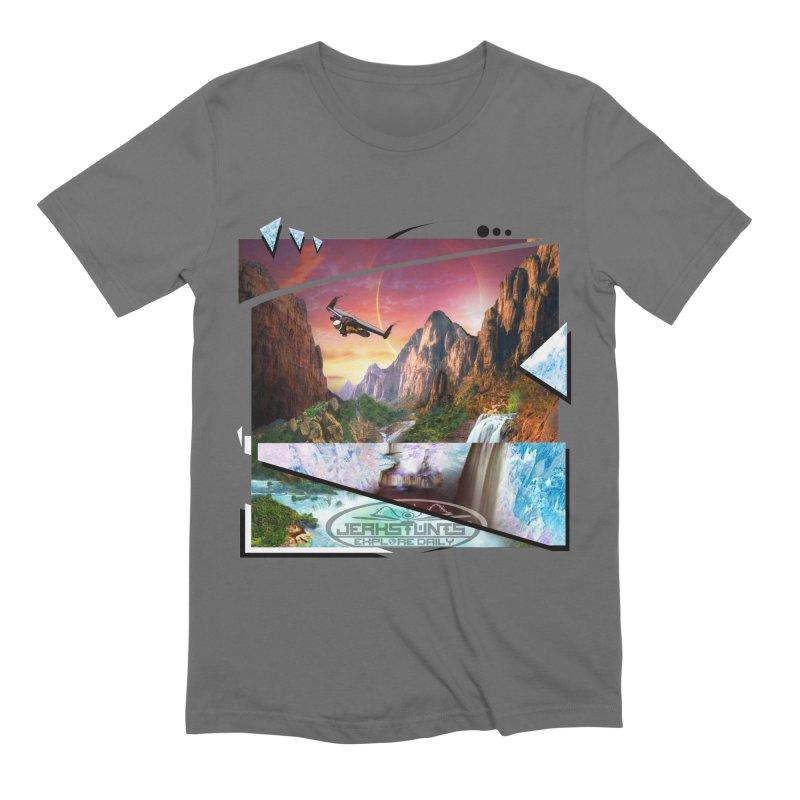 JERKSTUNTS WINGSUIT CYBERTECH HARD REMIX Men's Extra Soft T-Shirt by ExploreDaily's Artist Shop