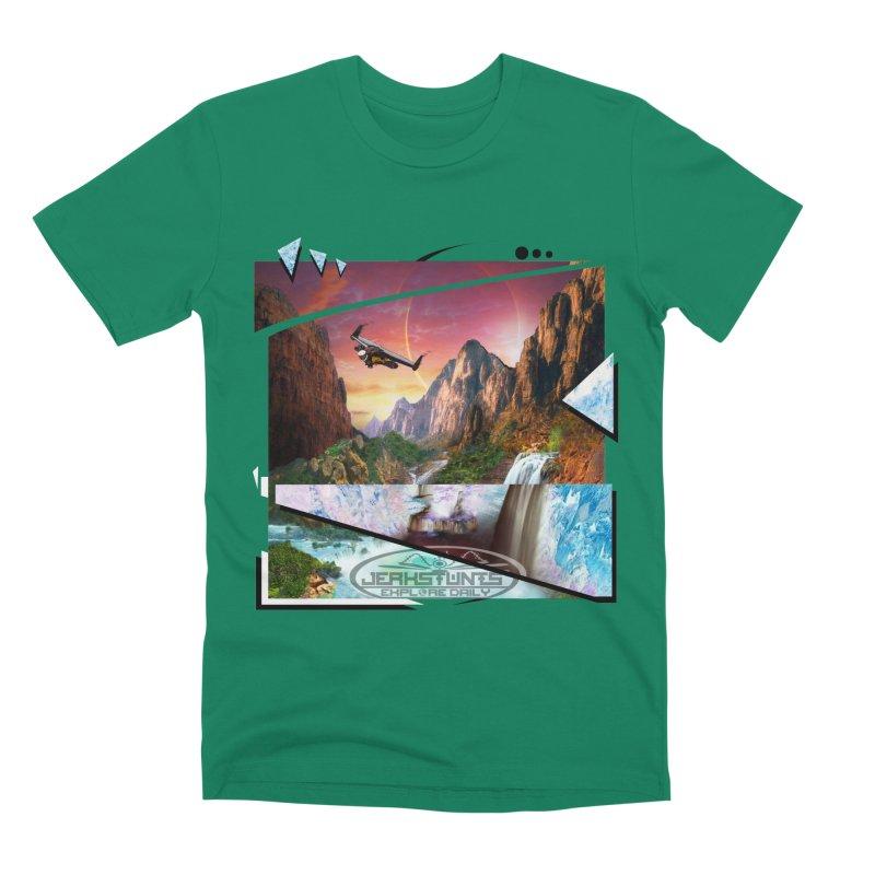 JERKSTUNTS WINGSUIT CYBERTECH HARD REMIX Men's Premium T-Shirt by ExploreDaily's Artist Shop