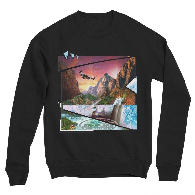 JERKSTUNTS WINGSUIT CYBERTECH HARD REMIX Women's Sponge Fleece Sweatshirt by ExploreDaily's Artist Shop