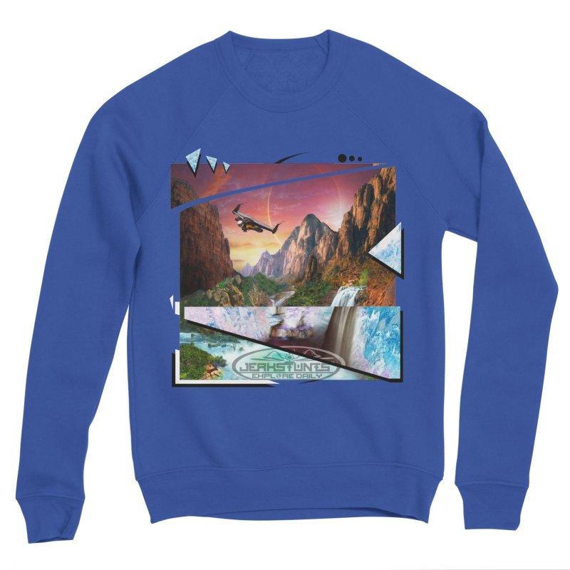 JERKSTUNTS WINGSUIT CYBERTECH HARD REMIX Men's Sponge Fleece Sweatshirt by ExploreDaily's Artist Shop