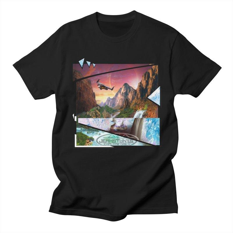 JERKSTUNTS WINGSUIT CYBERTECH HARD REMIX Men's T-Shirt by ExploreDaily's Artist Shop