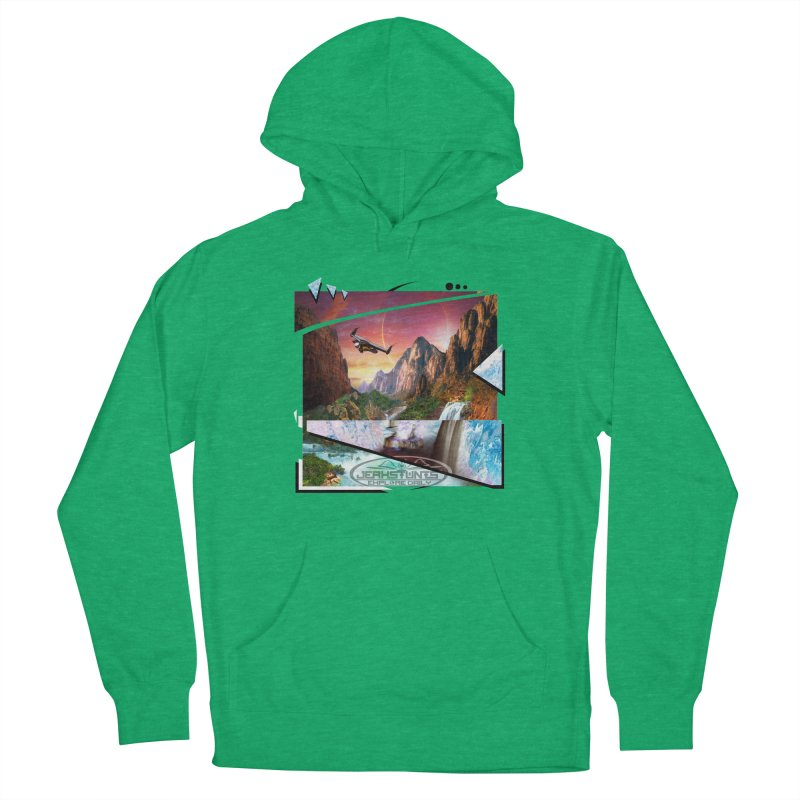 JERKSTUNTS WINGSUIT CYBERTECH HARD REMIX Women's French Terry Pullover Hoody by ExploreDaily's Artist Shop