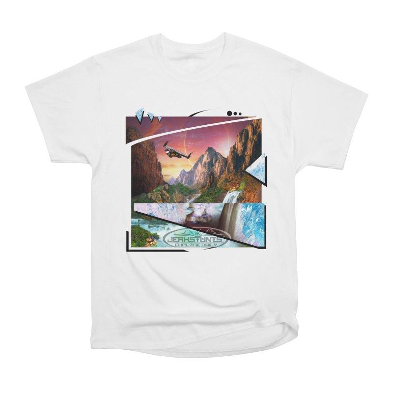 JERKSTUNTS WINGSUIT CYBERTECH HARD REMIX Men's Heavyweight T-Shirt by ExploreDaily's Artist Shop