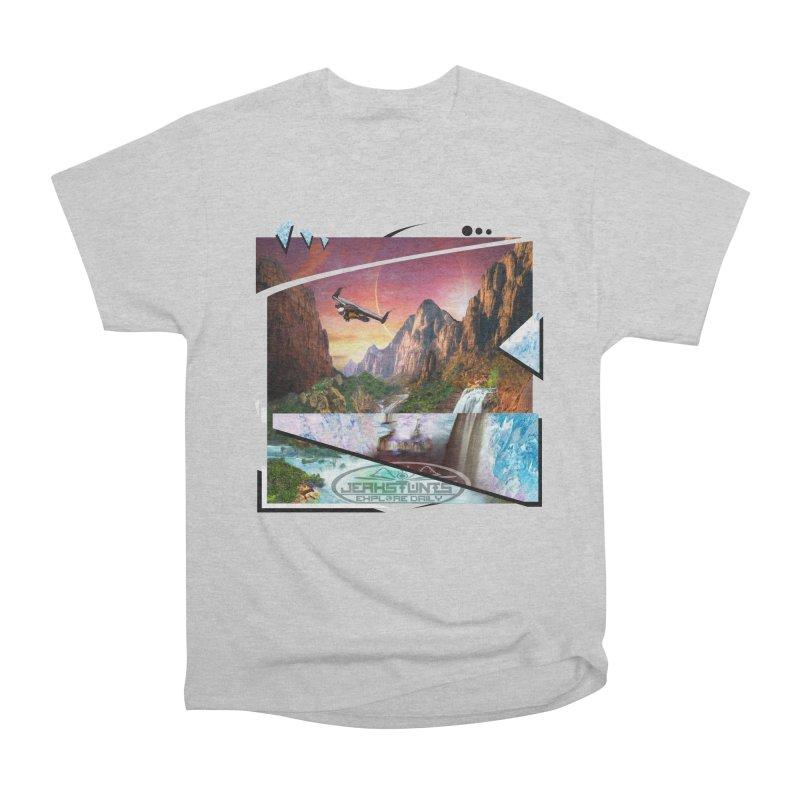 JERKSTUNTS WINGSUIT CYBERTECH HARD REMIX Women's Heavyweight Unisex T-Shirt by ExploreDaily's Artist Shop