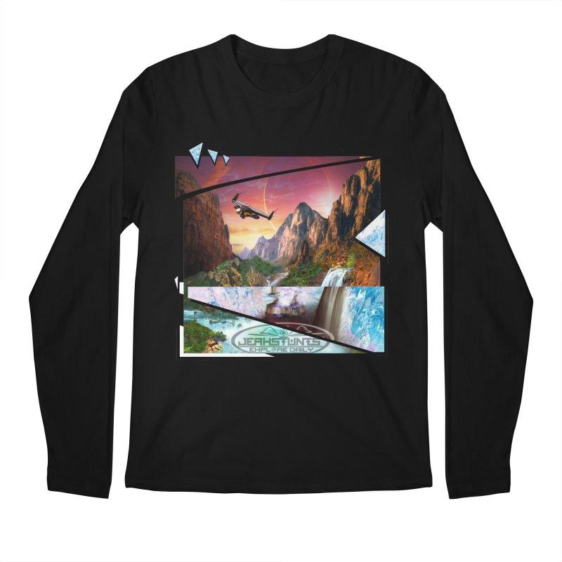JERKSTUNTS WINGSUIT CYBERTECH HARD REMIX Men's Regular Longsleeve T-Shirt by ExploreDaily's Artist Shop