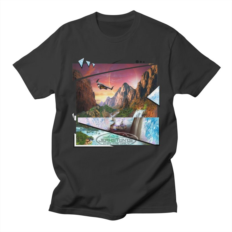 JERKSTUNTS WINGSUIT CYBERTECH HARD REMIX Women's Regular Unisex T-Shirt by ExploreDaily's Artist Shop