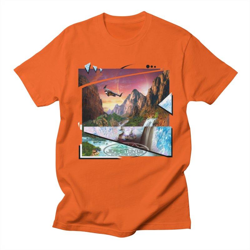 JERKSTUNTS WINGSUIT CYBERTECH HARD REMIX Men's Regular T-Shirt by ExploreDaily's Artist Shop
