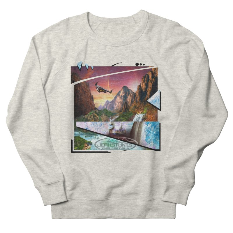 JERKSTUNTS WINGSUIT CYBERTECH HARD REMIX Women's French Terry Sweatshirt by ExploreDaily's Artist Shop