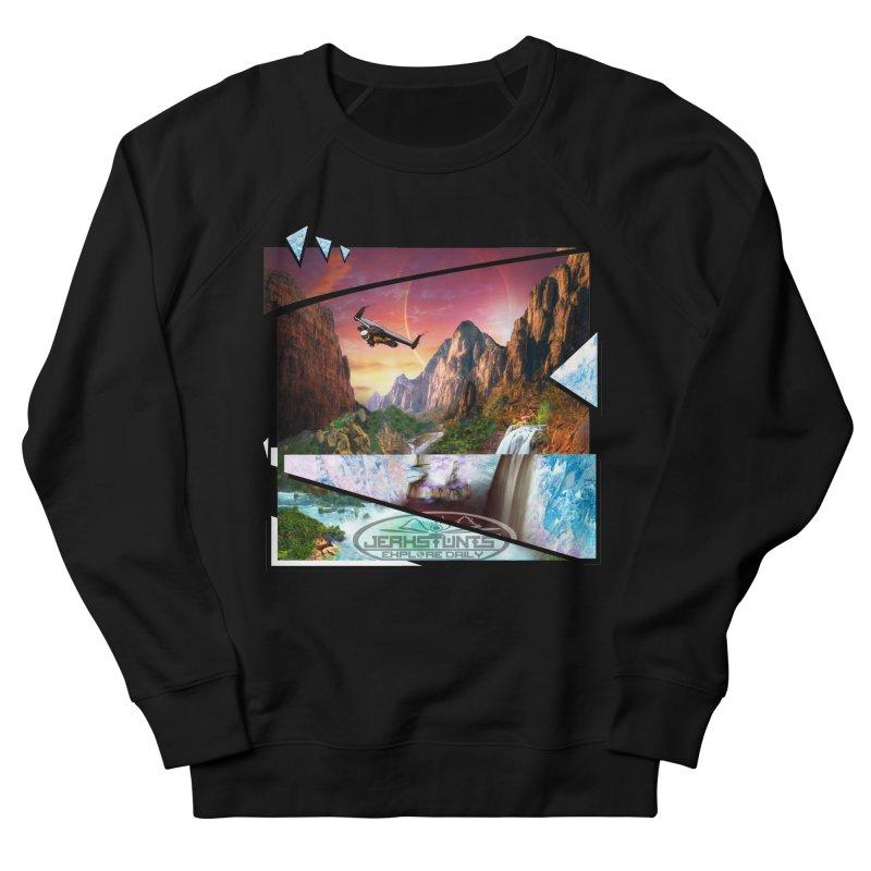 JERKSTUNTS WINGSUIT CYBERTECH HARD REMIX Men's French Terry Sweatshirt by ExploreDaily's Artist Shop