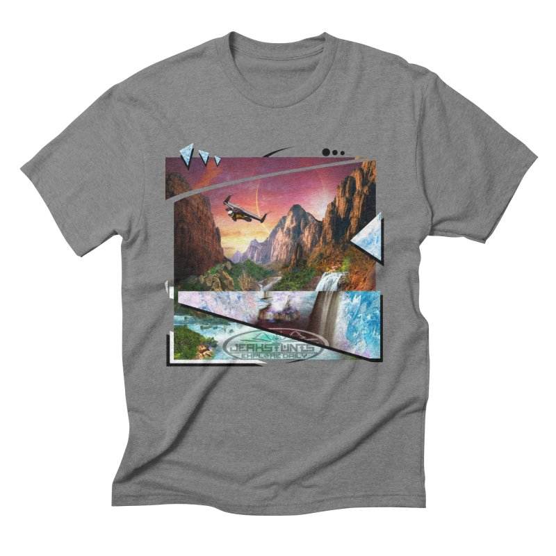 JERKSTUNTS WINGSUIT CYBERTECH HARD REMIX Men's Triblend T-Shirt by ExploreDaily's Artist Shop