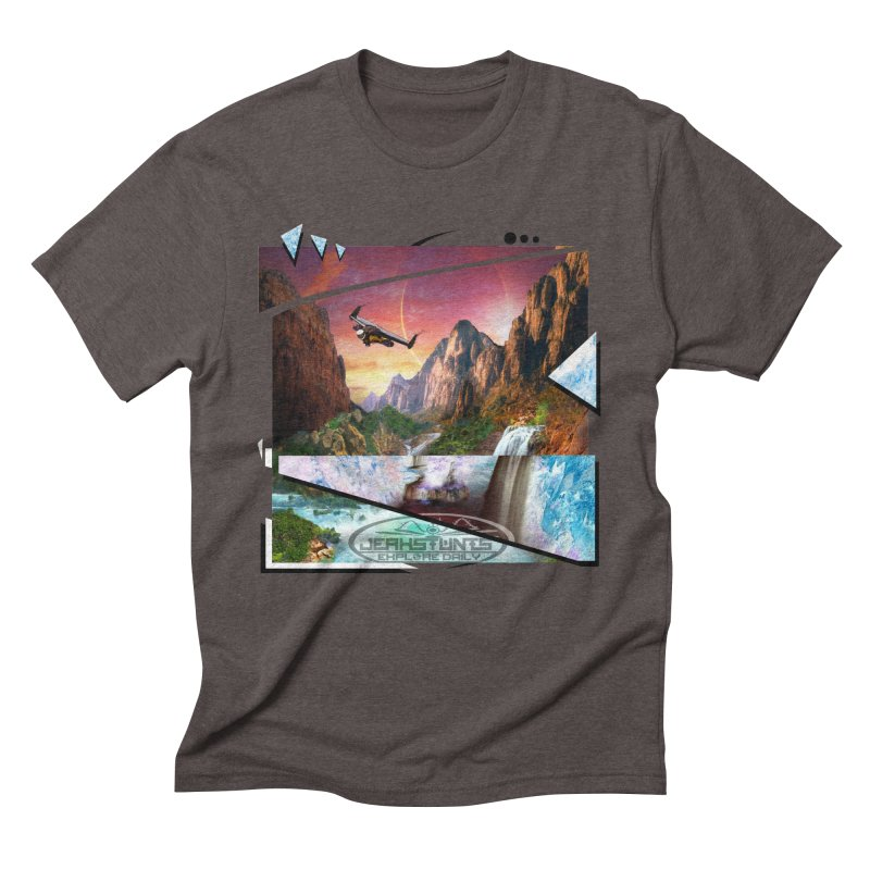 JERKSTUNTS WINGSUIT CYBERTECH HARD REMIX Men's Triblend T-Shirt by ExploreDaily's Artist Shop