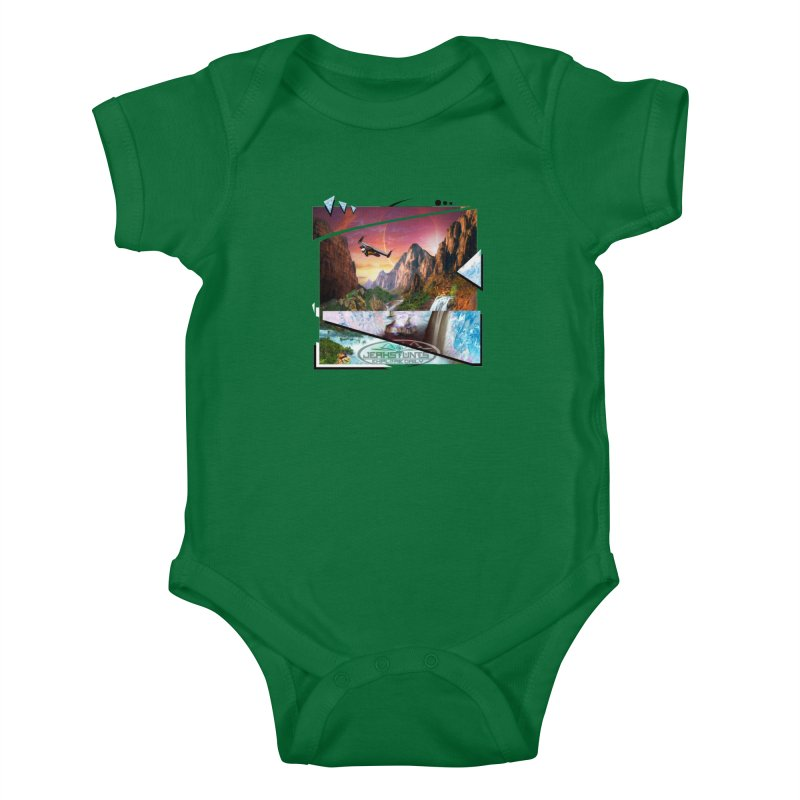 JERKSTUNTS WINGSUIT CYBERTECH HARD REMIX Kids Baby Bodysuit by ExploreDaily's Artist Shop