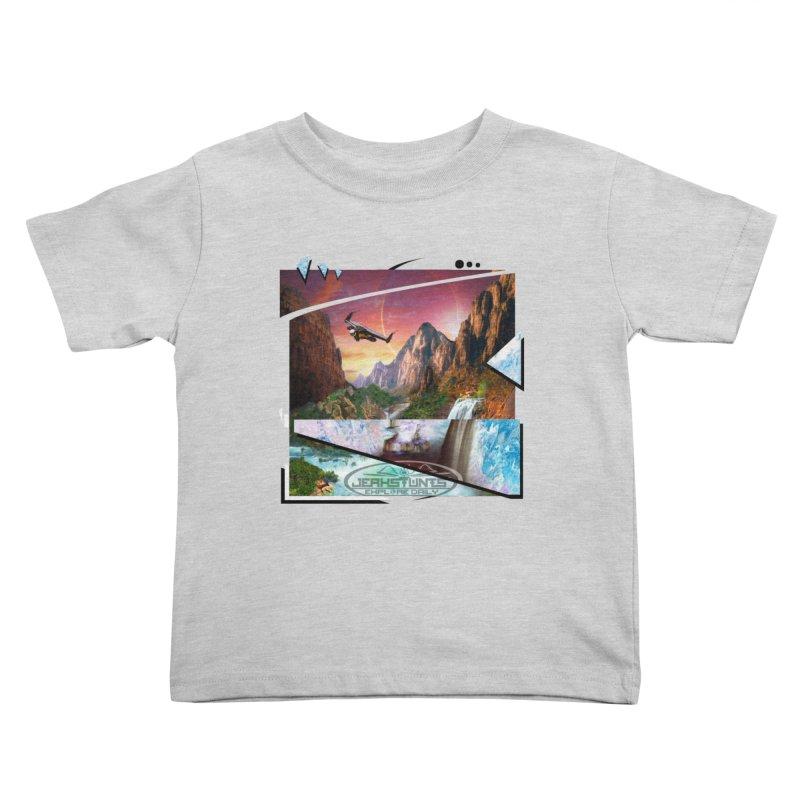 JERKSTUNTS WINGSUIT CYBERTECH HARD REMIX Kids Toddler T-Shirt by ExploreDaily's Artist Shop