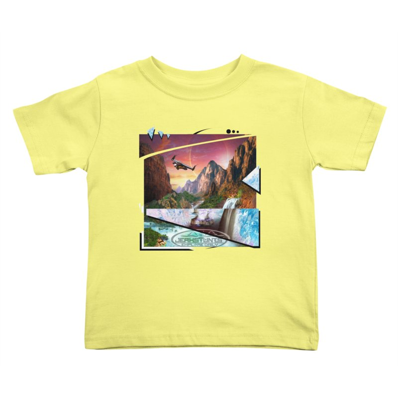 JERKSTUNTS WINGSUIT CYBERTECH HARD REMIX Kids Toddler T-Shirt by ExploreDaily's Artist Shop