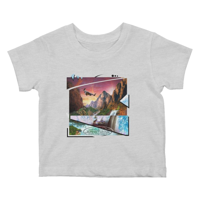 JERKSTUNTS WINGSUIT CYBERTECH HARD REMIX Kids Baby T-Shirt by ExploreDaily's Artist Shop