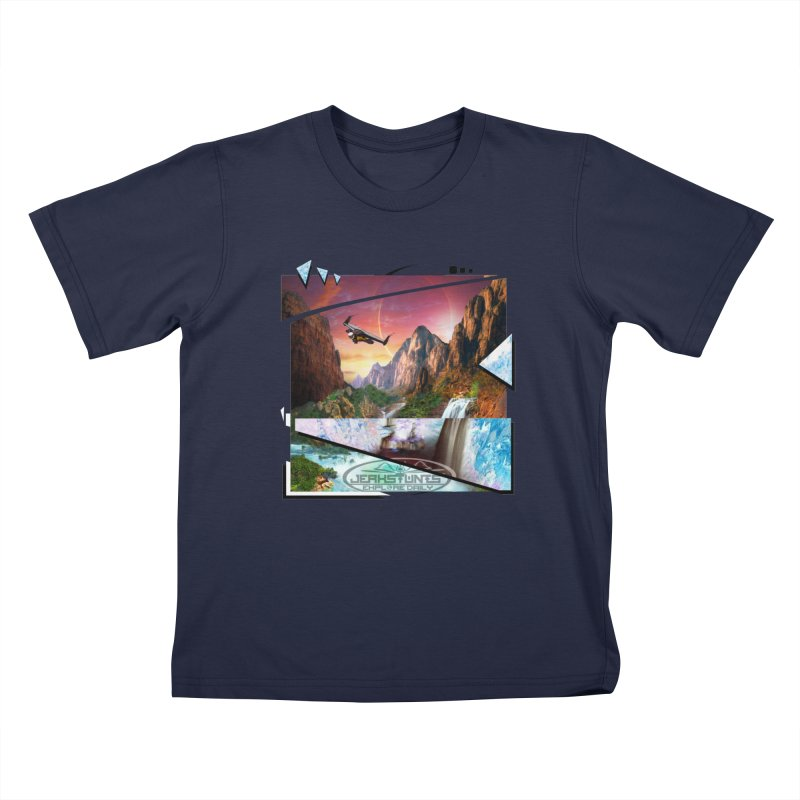 JERKSTUNTS WINGSUIT CYBERTECH HARD REMIX Kids T-Shirt by ExploreDaily's Artist Shop