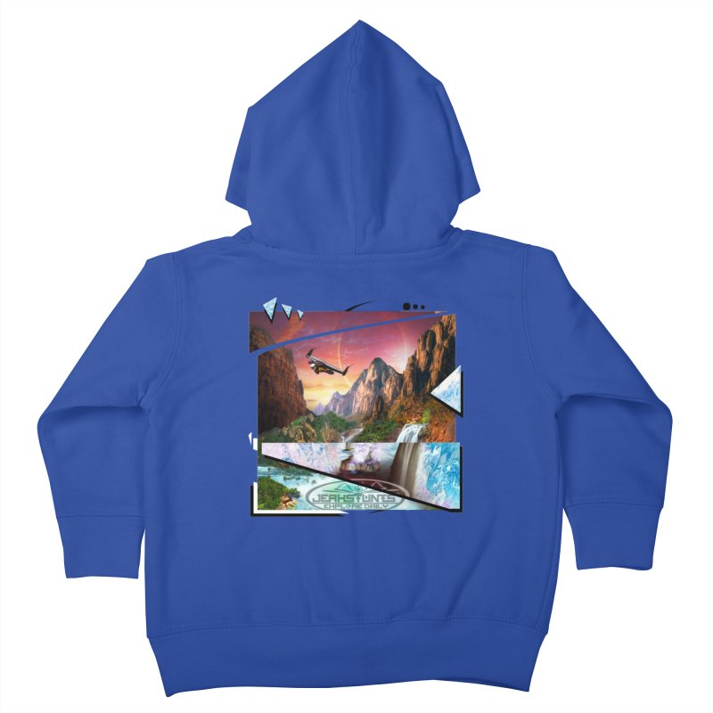 JERKSTUNTS WINGSUIT CYBERTECH HARD REMIX Kids Toddler Zip-Up Hoody by ExploreDaily's Artist Shop