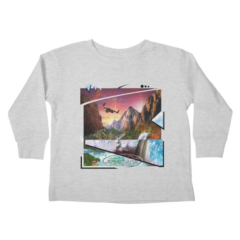 JERKSTUNTS WINGSUIT CYBERTECH HARD REMIX Kids Toddler Longsleeve T-Shirt by ExploreDaily's Artist Shop