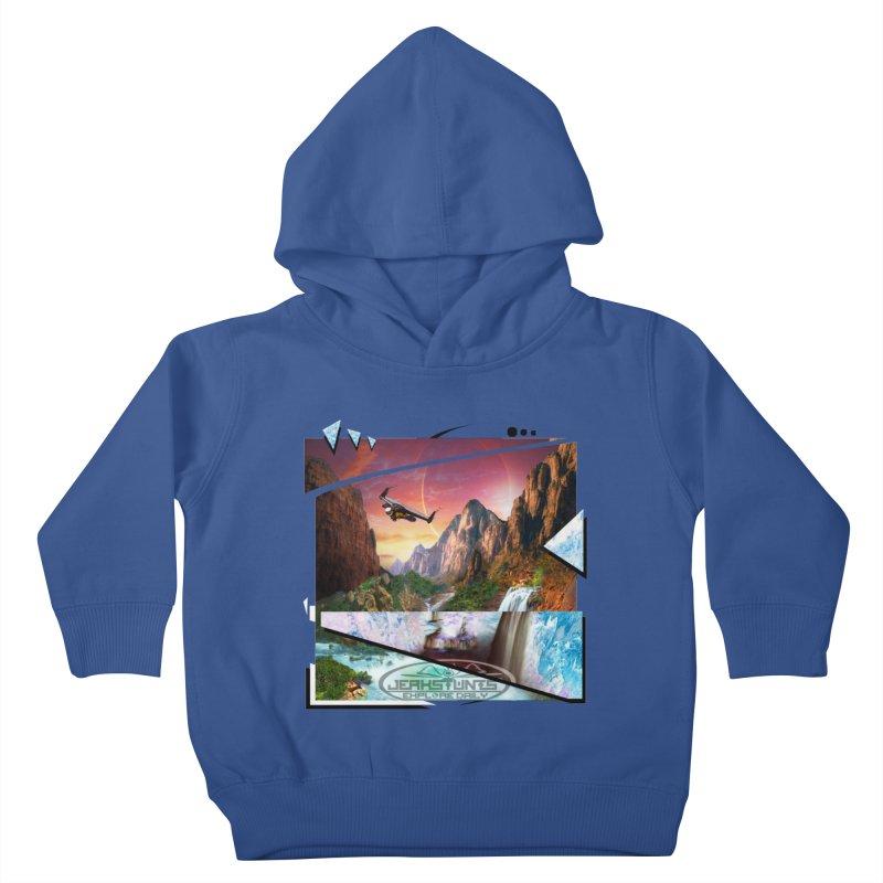 JERKSTUNTS WINGSUIT CYBERTECH HARD REMIX Kids Toddler Pullover Hoody by ExploreDaily's Artist Shop