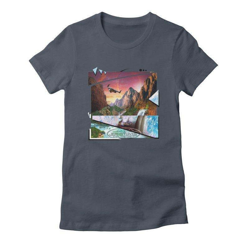 JERKSTUNTS WINGSUIT CYBERTECH HARD REMIX Women's T-Shirt by ExploreDaily's Artist Shop