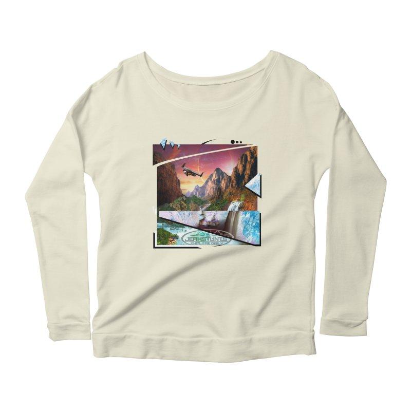 JERKSTUNTS WINGSUIT CYBERTECH HARD REMIX Women's Scoop Neck Longsleeve T-Shirt by ExploreDaily's Artist Shop